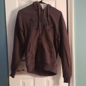 Hard rock sweat jacket with hood